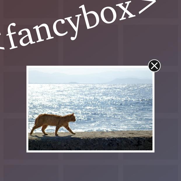 フォトギャラリー風にfancyboxを実装しよう!